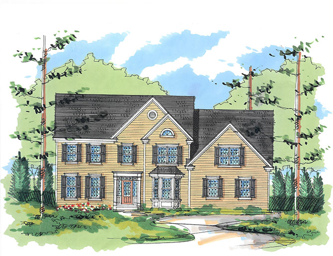 Home model in Dutchess County, Upstate New York new construction community Sleight Farm, Hudson Valley