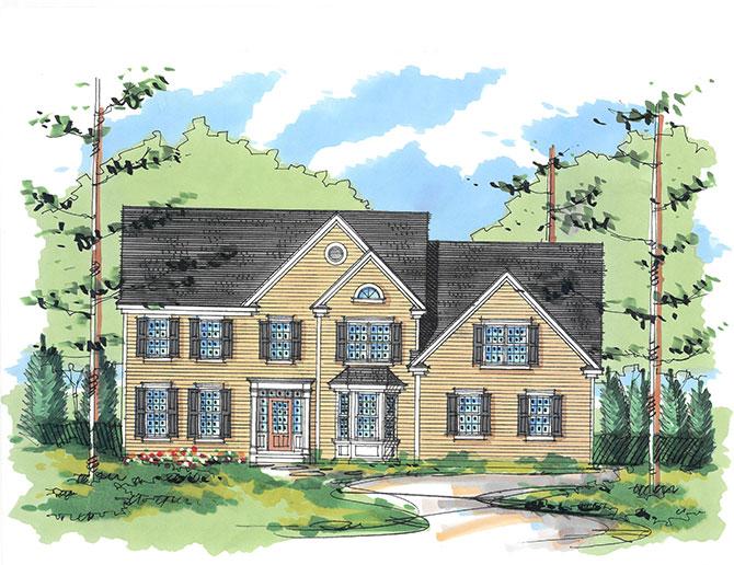 New construction model home illustration at Sleight Farm in Hudson Valley NY