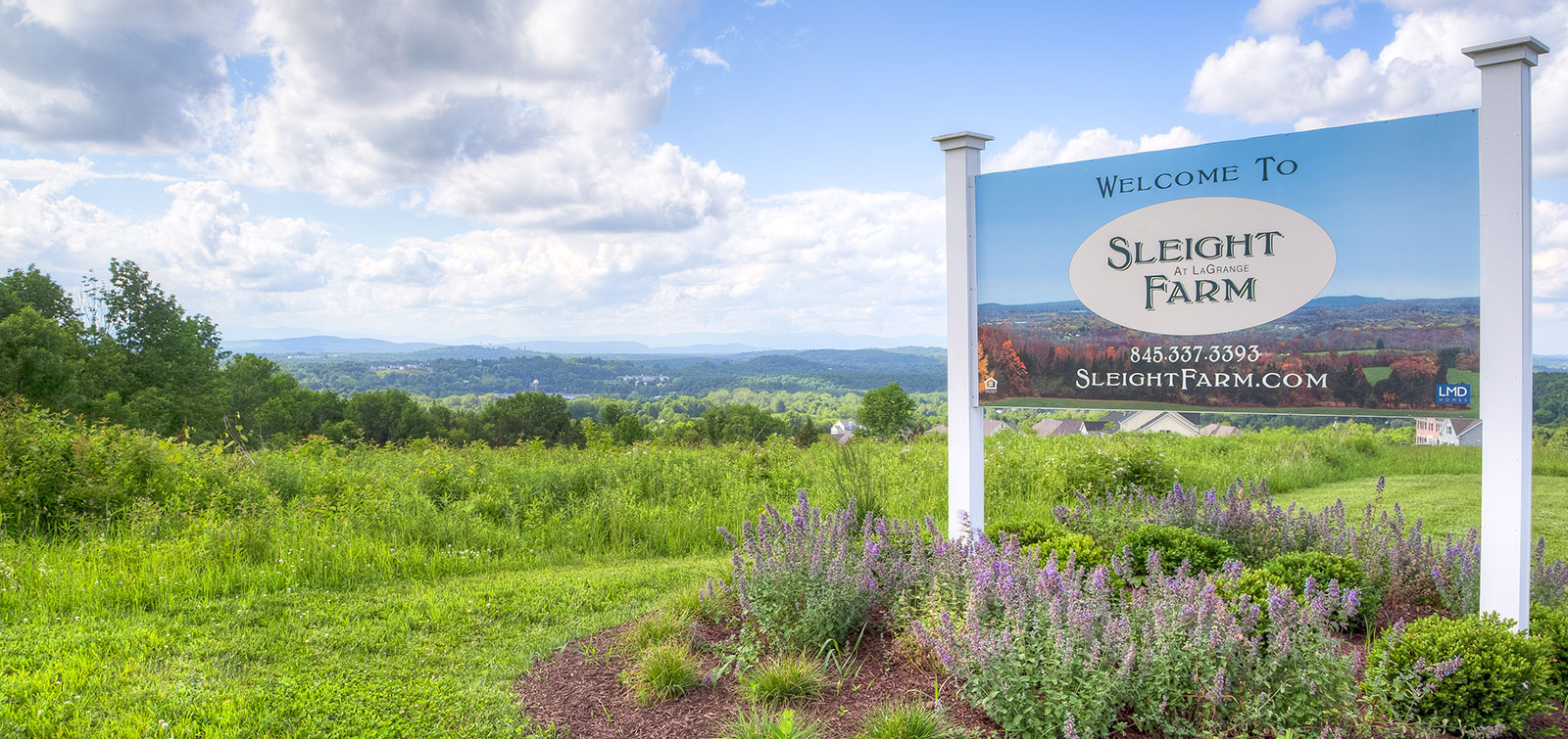 Mountain views from Sleight Farm new construction home community near Poughkeepsie NY
