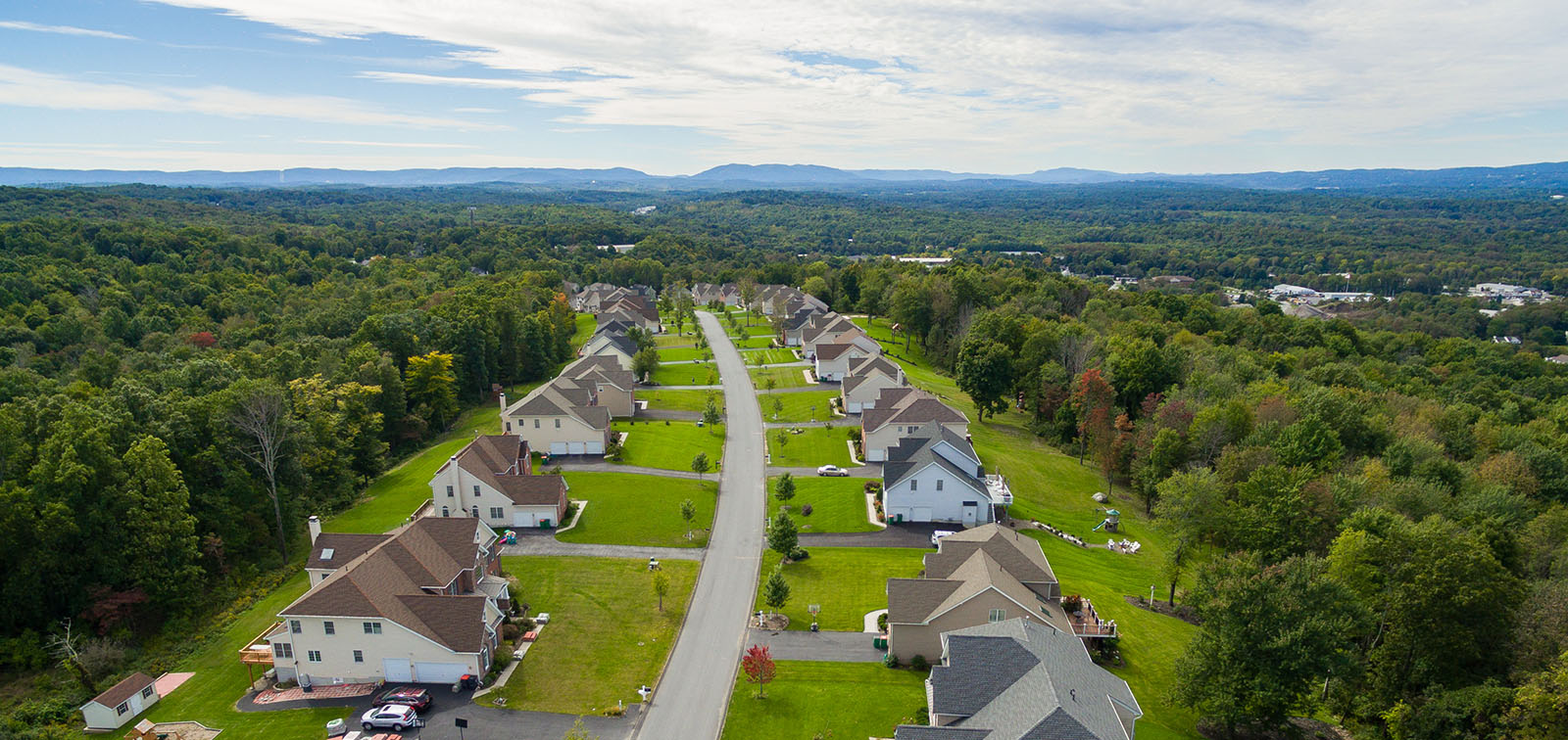 Sweeping view of Sleight Farm new home community in LaGrange NY