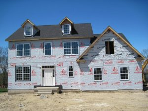 New construction home being built at Sleight Farm