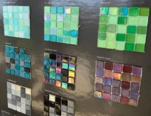 Glass tile choices at Sleight Farm custom home design center