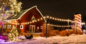 Dutchess County farm near new home community Sleight Farm decorated for Christmas