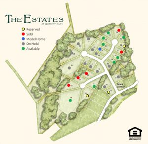 Available home sites at The Estates new home community in Dutchess County, Hudson Valley NY