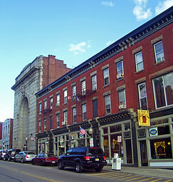 Main Street in Beacon, New York, a location close to the Sleight Farm community of new homes in the Hudson Valley