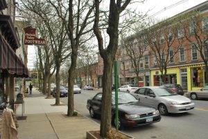 Market Street in Rhinebeck, NY, close to the Sleight Farm community of new homes in the Hudson Valley