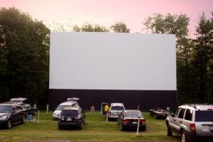 Overlook Drive-In theatre near Sleight Farm community of new homes in the Hudson Valley