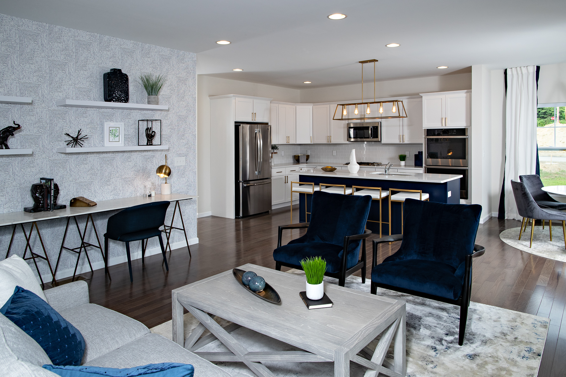 Open model new home in Upstate New York at The Glens, part of Sleight Farm's new home community in Dutchess County, Hudson Valley