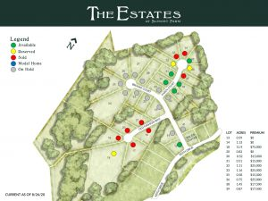 Current home site map at Upstate NY's Dutchess County Sleight Farm at LaGrange