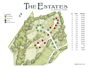 Luxury home sites at The Estates new construction community in Dutchess County's Hudson Valley